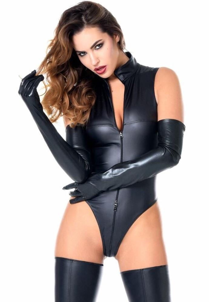 Damen Stringbody MANON schwarz Wetlook matt Patrice Catanzaro