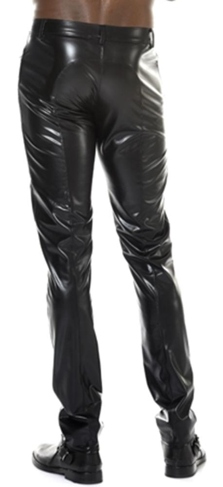 Leichte Wetlook Herren Party Hose JOSS schwarz Patrice Catanzaro